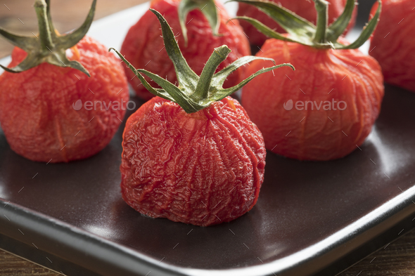 Grilled red vine tomatoes - Stock Photo - Images