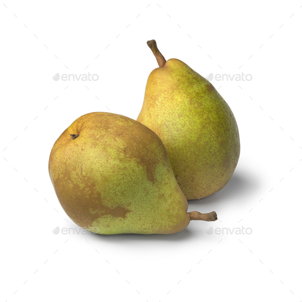 Pair of  Doyenne du Comice pears - Stock Photo - Images