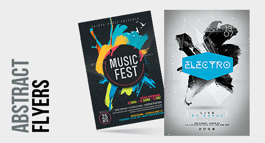 Abstract Party Flyers