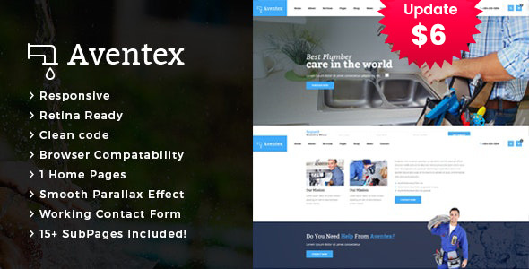 Aventex - Plumber and Construction HTML Template