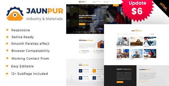 Jaunpur - Industrial Business HTML Template