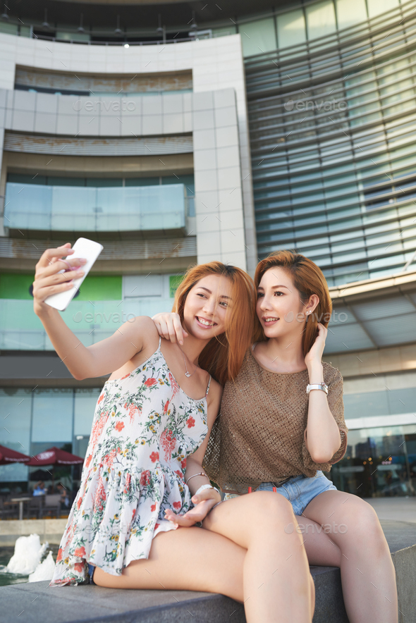 Photographing with best friend - Stock Photo - Images