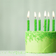 Green birthday cake - PhotoDune Item for Sale