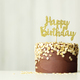 Chocolate and gold birthday cake - PhotoDune Item for Sale