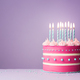 Pink birthday cake - PhotoDune Item for Sale