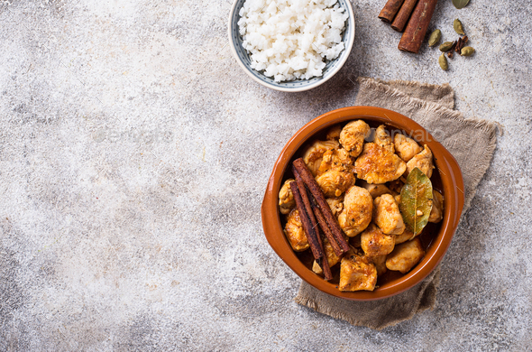 Chicken tikka masala. Traditional Indian dish - Stock Photo - Images
