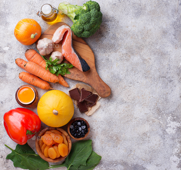 Healthy food good for vision - Stock Photo - Images