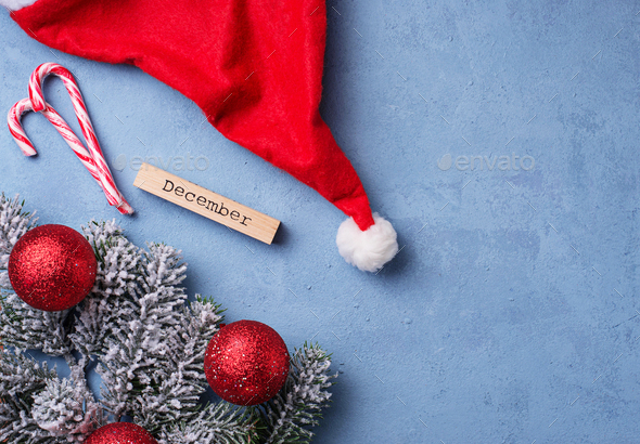 Christmas or New year festive  background - Stock Photo - Images