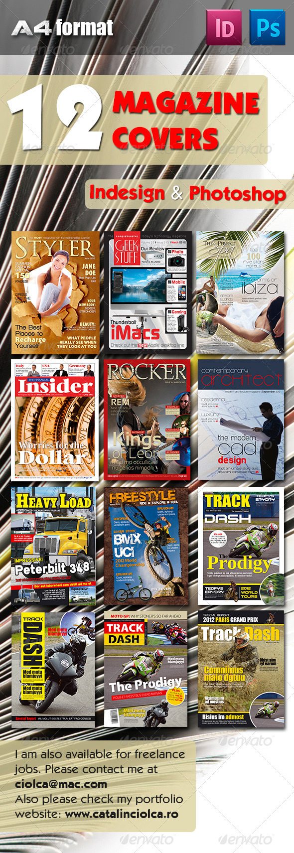12 Magazine Covers Bundle - Magazines Print Templates