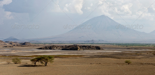 Tanzani volcano, Ol Doinyo Lengai, Tanzania, Africa - Stock Photo - Images