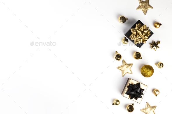 Christmas Flat Lay Background - Stock Photo - Images