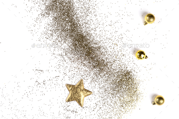 Christmas Flat Lay Background. - Stock Photo - Images