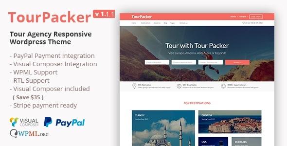 Tour Packer - Agency WordPress Theme
