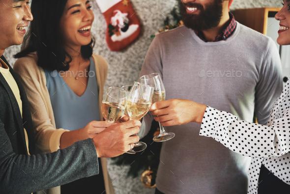 Celebrating Christmas - Stock Photo - Images