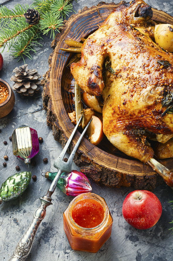 Christmas meat food - Stock Photo - Images