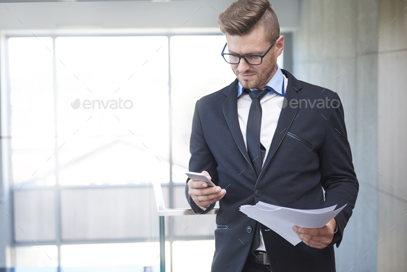 Man before a very important business meeting - Stock Photo - Images