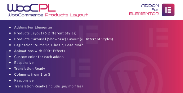 Download WooCommerce Products Layout for Elementor WordPress Plugin Free Nulled