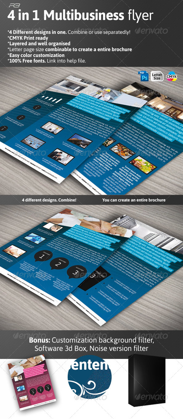 4in1 Multibusiness Flyer - Corporate Flyers