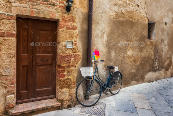 Picturesque streets of Pienza - Stock Photo - Images