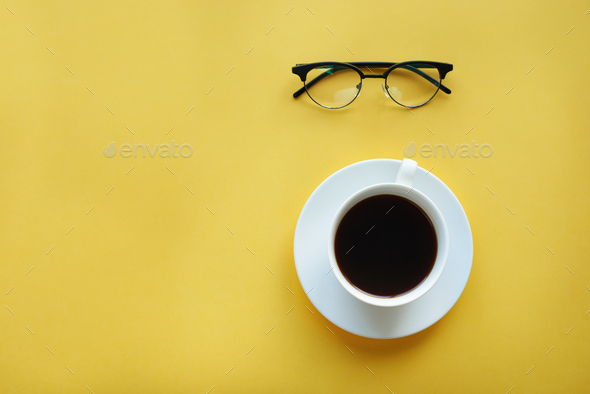 Good mornig with cup of coffee - Stock Photo - Images