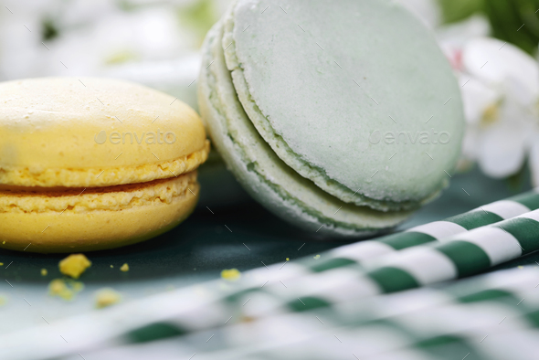Variation of yummy macaroons - Stock Photo - Images