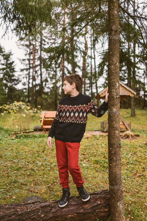 Boy in nature - Stock Photo - Images