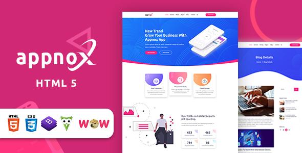 Excellent Appnox - Product Landing HTML 5 Template