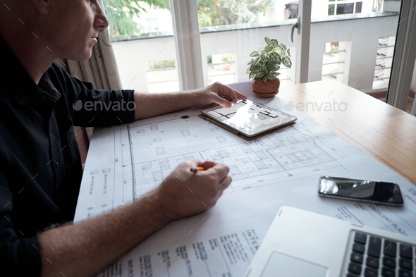 Engineer Working On Project - Stock Photo - Images