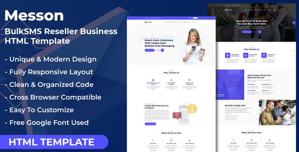 Messon - Bulk SMS Reseller Business HTML Template