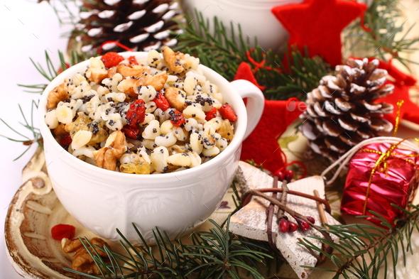 Kutia. Traditional Christmas sweet meal - Stock Photo - Images