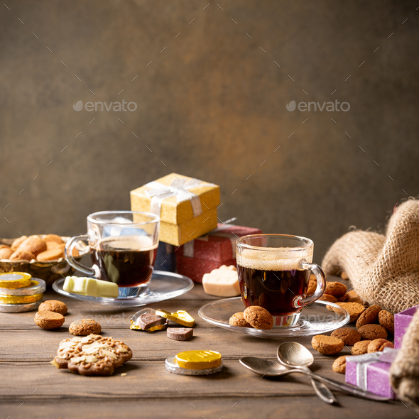 Dutch holiday Sinterklaas festive breakfast - Stock Photo - Images