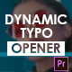 Dynamic Typography Opener - Mogrt - VideoHive Item for Sale