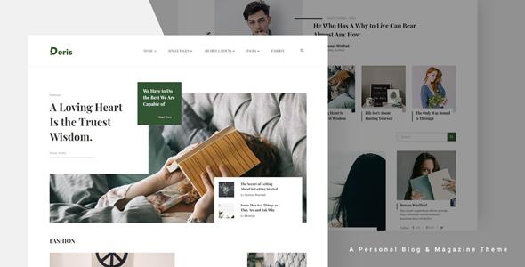 Doris - Creative WordPress Blog and Magazine Theme