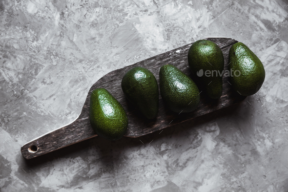 Avocado. Useful food on the table. Country style - Stock Photo - Images