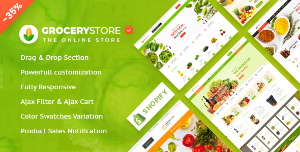 Grocery Store - Vegetable & Organic Responsive Shopify Theme