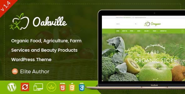 Oakville - Organic Food and Beauty Products WP Theme by ThemeKalia