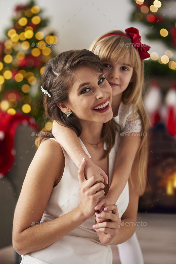 Close up of happy mother and daughter - Stock Photo - Images