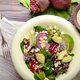 Top view at mediterranean roasted beet salad with avocado walnut - PhotoDune Item for Sale