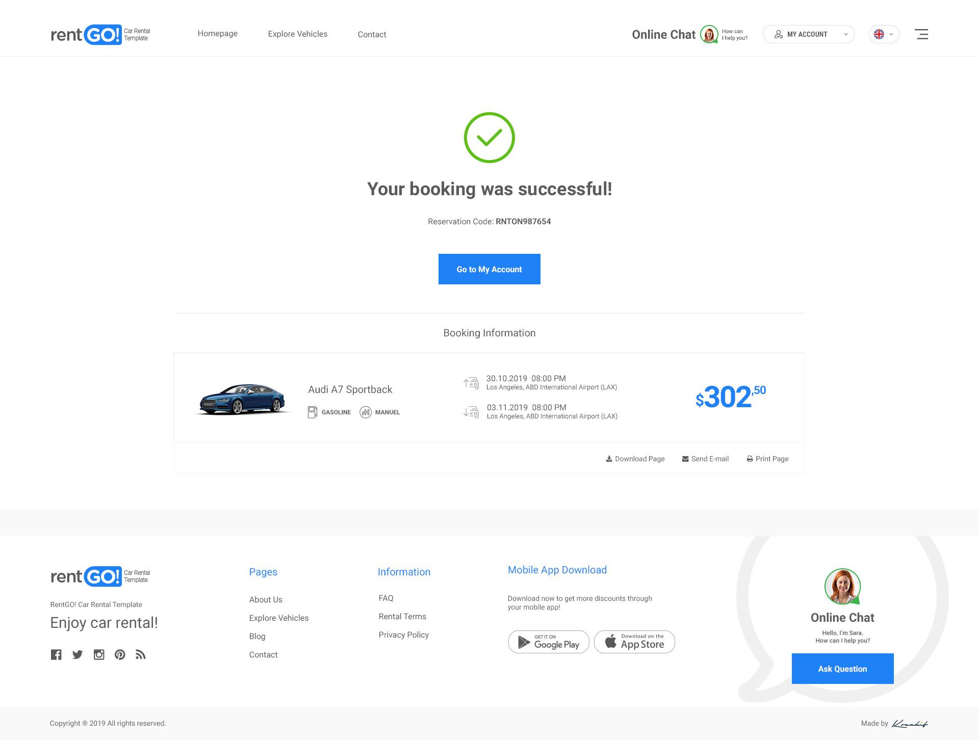 Rentgo  Modern Rent A Car