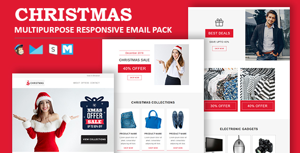 Christmas - Multipurpose Responsive Email Template by guiwidgets