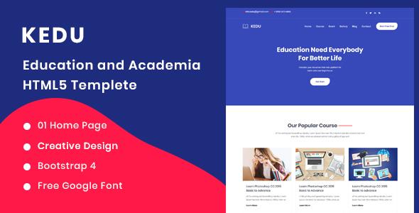 Kedu - Education and Academia HTML5 Template by ThemeStok