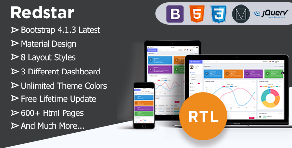RedStar - Bootstrap 4 Material Admin Dashboard Template For Hospital & Clinics