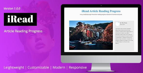Share codecanyon iRead Article Reading Progress