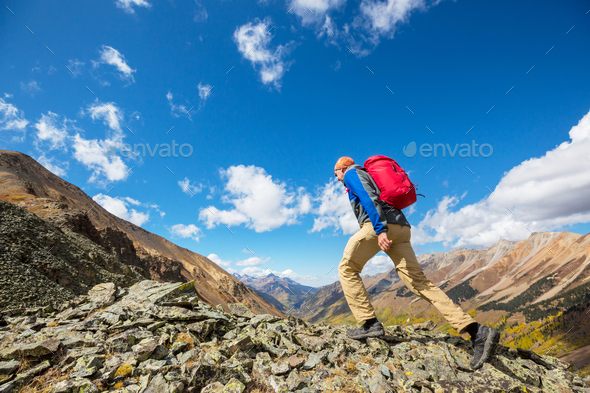 Hike in mountains - Stock Photo - Images