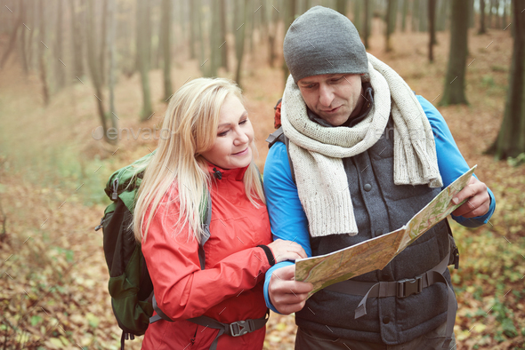 Checking right way on the map - Stock Photo - Images
