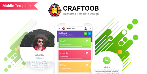 Extraordinary Craftoob | Mobile First Responsive HTML Template