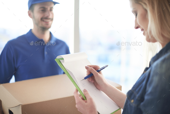 Just sign over there please - Stock Photo - Images