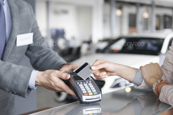 Close up of prox card payment - Stock Photo - Images