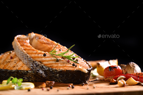 Grilled Salmon - Stock Photo - Images