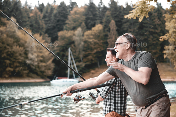 Fishing is a way of life - Stock Photo - Images